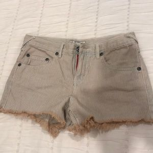 Free People Striped Shorts. Size 26